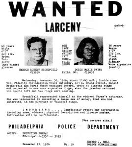 Doris Payne, right, appears in this copy of a 1966 wanted poster provided by her family. The 75-year-old international jewel thief, who was successful stealing jewels for more than 50 years, now faces charges that she stole a ring from a Neiman Marcus store. (AP Photo)