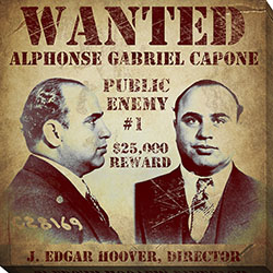 STR-20x20 AL.VINAPP120976 Al Capone Wanted Poster