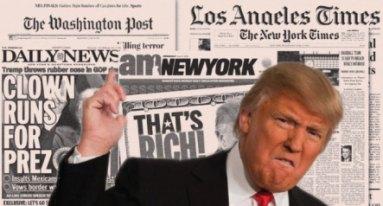 Image result for mass media slams on trump