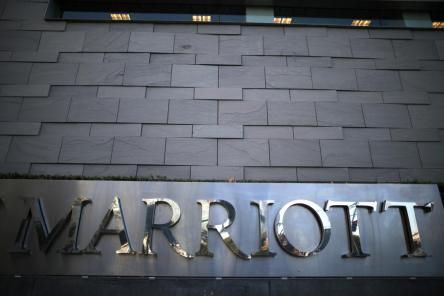 A JW Marriott hotel is seen in Los Angeles